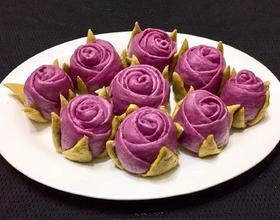 紫薯玫瑰花卷[图]
