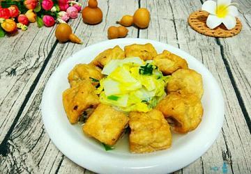 煎酿豆腐焖大白菜