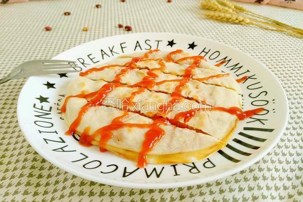 饺子皮版的菜饼