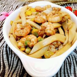 豌豆杏鲍菇炒虾仁