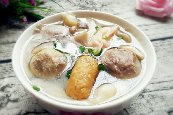 肉丸平菇汤