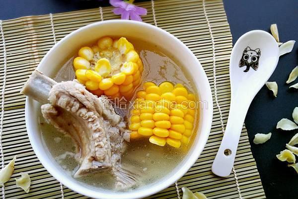 排骨百合山药玉米汤