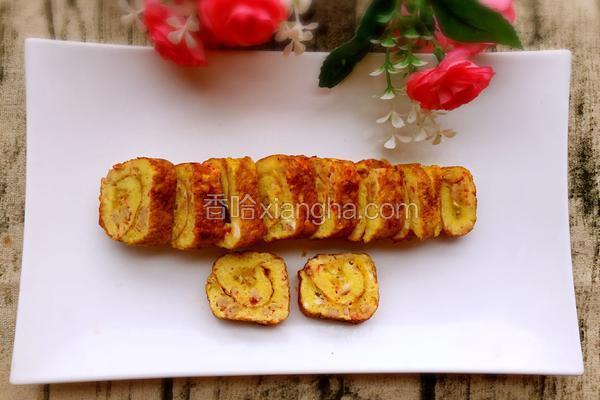 西红柿火腿厚蛋卷
