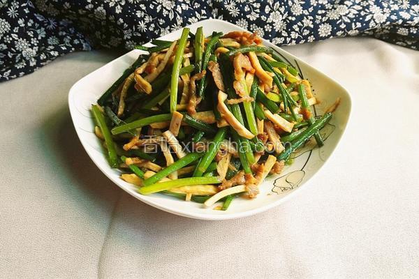 香干肉丝炒韭菜花