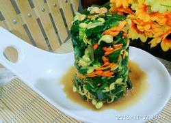 凉拌菠菜黄豆芽