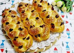 蔓越莓干酥粒辫子面包