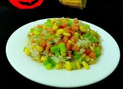 黄瓜玉米火腿炒饭