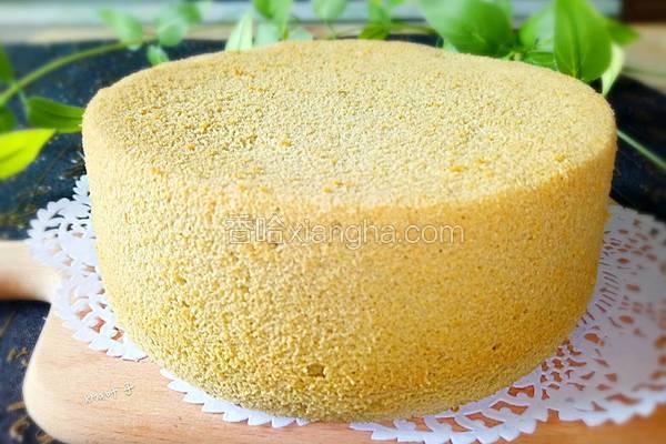 抹茶戚风蛋糕(6寸)