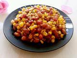 玉米花生炒香肠的做法[图]