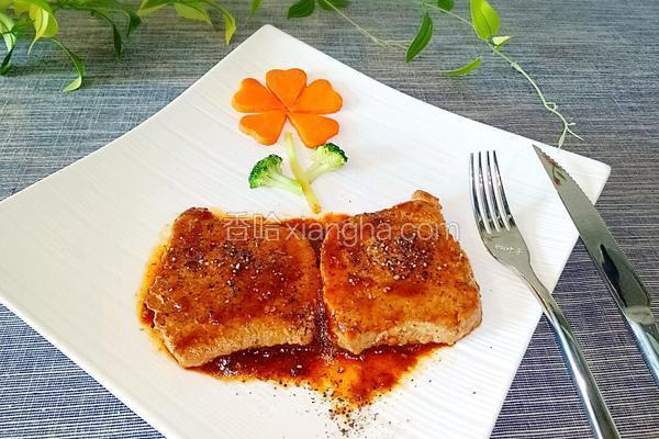 香煎黑椒猪排