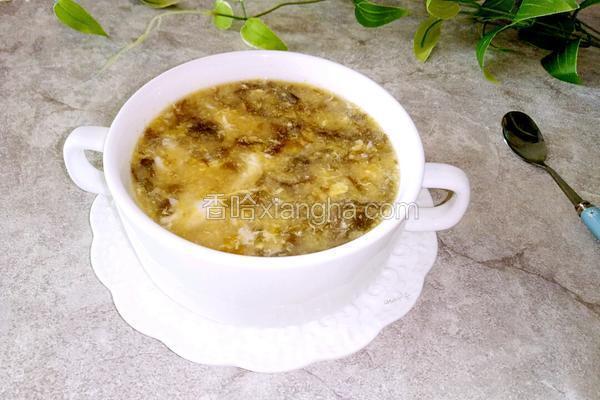 紫菜肉末蛋花玉米汤