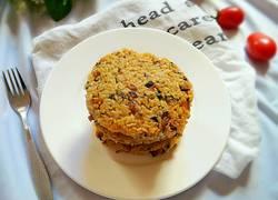 肉末橄榄菜米饭饼