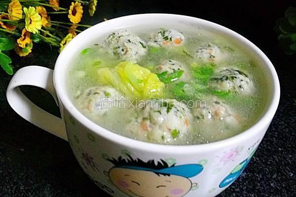 菠菜鸡肉丸子汤