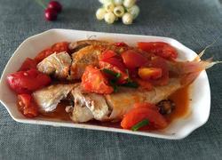 番茄焖红衫鱼