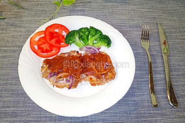 茄汁烤猪排