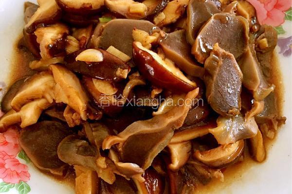 香菇炒鸭胗