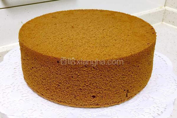 巧克力戚风蛋糕8寸