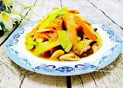 胡萝卜西芹炒香菇