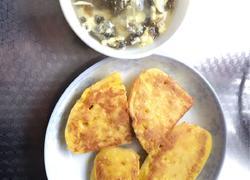 蛋香馒头片 紫菜蛋汤