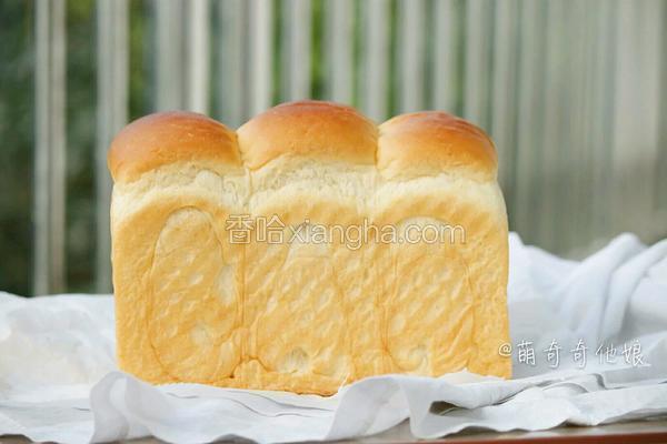 鲜奶土司(老面法)
