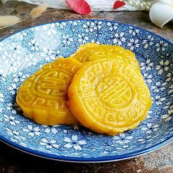南瓜豆沙馅饼