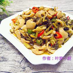 大肠炒酸菜