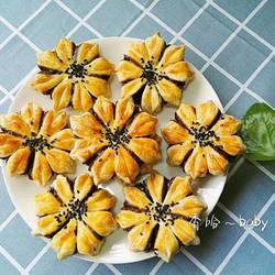 花朵豆沙酥