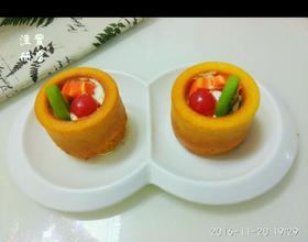 橙味奶油水果杯子蛋糕