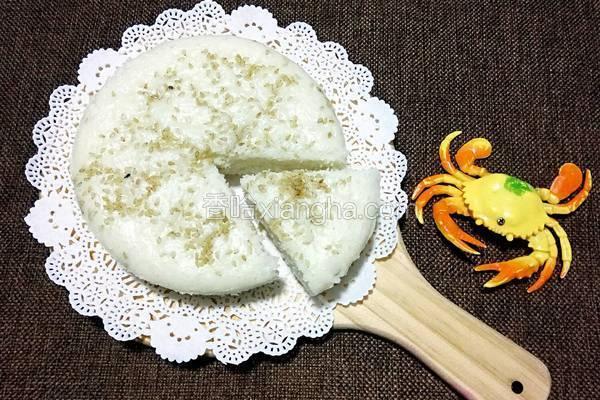 奶香粘米发糕(面粉版)