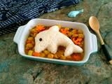 咖喱鸡肉小海豚饭团的做法[图]