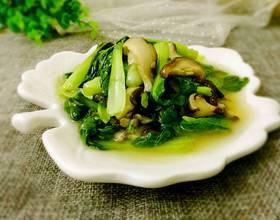 小白菜炒香菇[图]