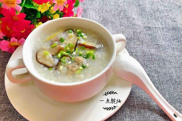 香菇肉片粥