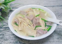 腐竹肉片汤