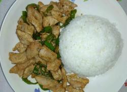青椒炒肉饭