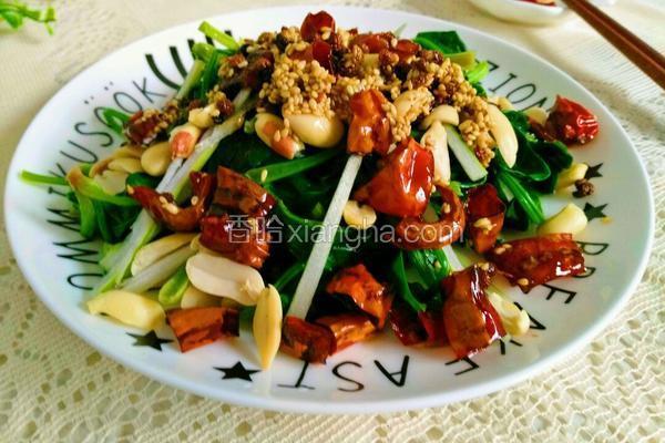 干锅辣椒拌菠菜