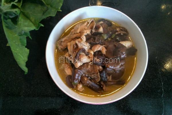 榛蘑炖鸡腿