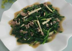 韭菜炒冬笋肉丝