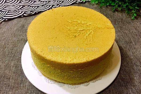 菠菜汁戚风蛋糕-八寸