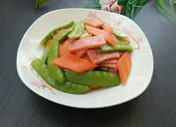 荷兰豆炒火腿肠