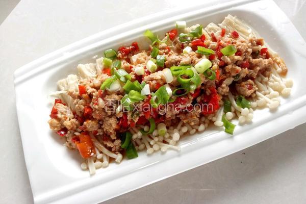 剁椒炒肉金针菇