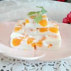 蜜橘椰汁糕