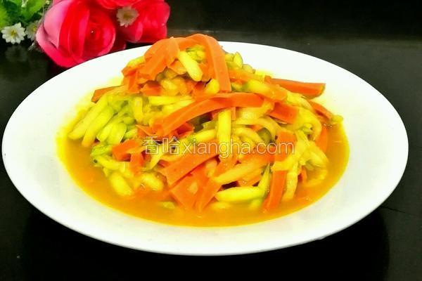 西葫芦炒香肠