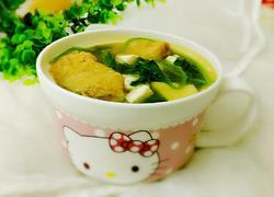 面筋菠菜汤