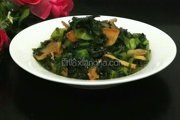 莴苣叶炒肉片