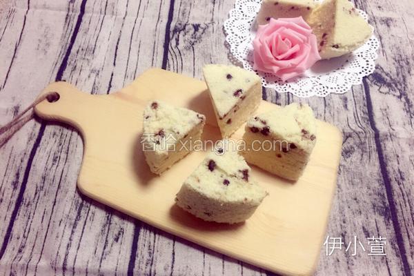 蜜豆糯米蒸蛋糕
