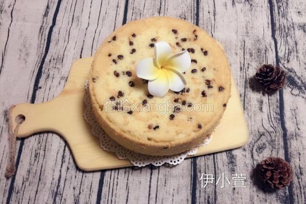 蜜豆戚风蛋糕