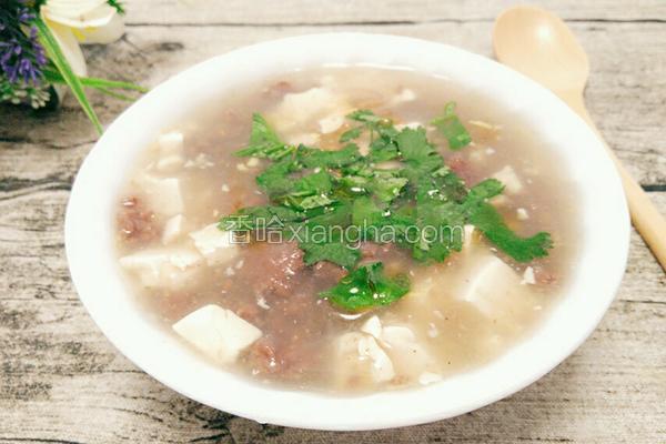 豆腐牛肉汤