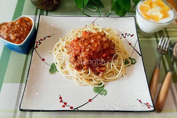 番茄牛肉酱意面