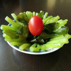 螺旋藻炒茼蒿