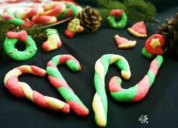 圣诞拐棍饼干